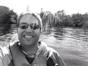 This is me on a kayak at Manatee Park in Fort Myers, which is one of my favorite wintertime Florida parks.