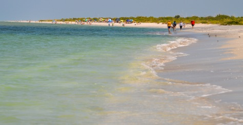 Waves roll onto Bowman's Beach.